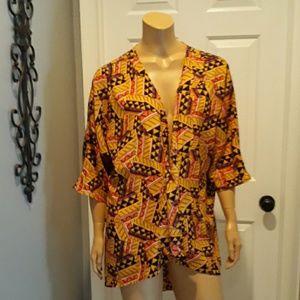 Lularoe cardigan Duster top blouse medium